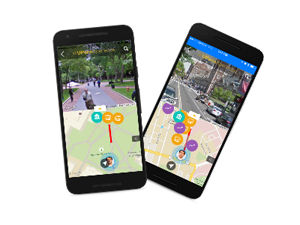 transportation app smart phone screen shot